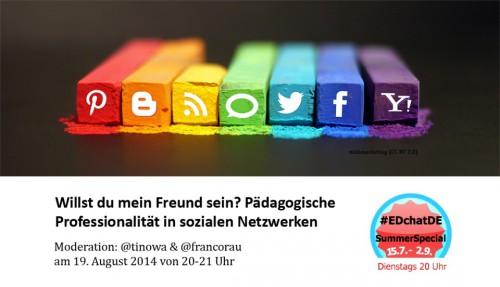 EdChatde: Willst Du mein Freund sein? Pädagogische Professionalität in sozialen Netzwerken